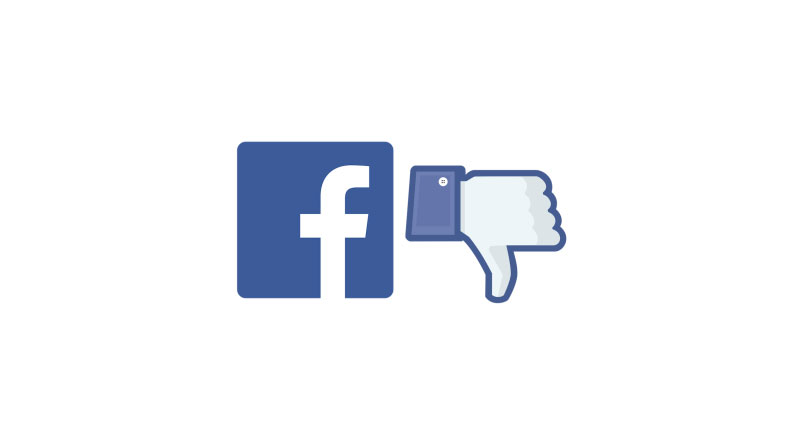 Facebook icon with thumbs down