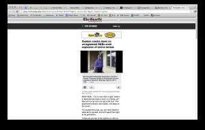Montreal Gazette mobile article on the desktop