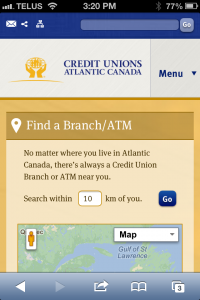 Atlantic Credit Unions Mobile site