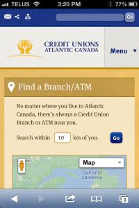 Atlantic Credit Unions Mobile site
