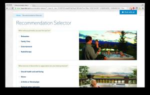 Interactive Hot Tub Selector