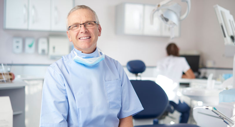 Male dentist portrait