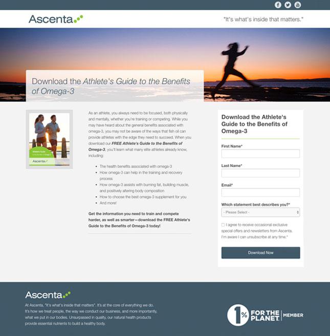 Ascenta HubSpot landing page