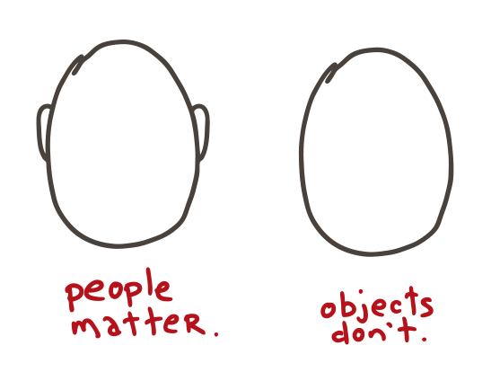 People Matter. Objects Don't.