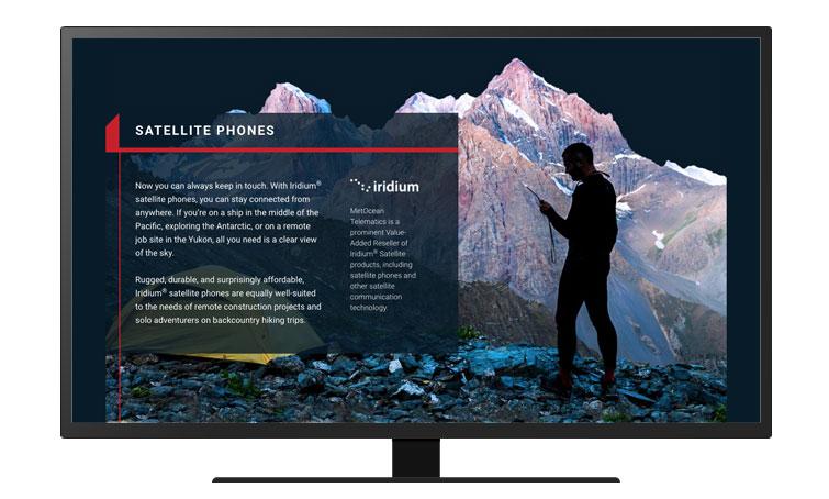 A screenshot of the MetOcean website