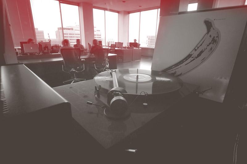 Kula Partners office record player