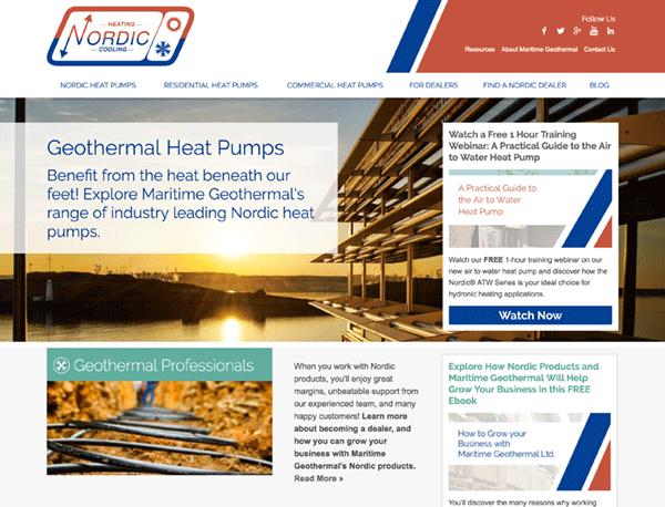 Maritime Geothermal homepage screenshot