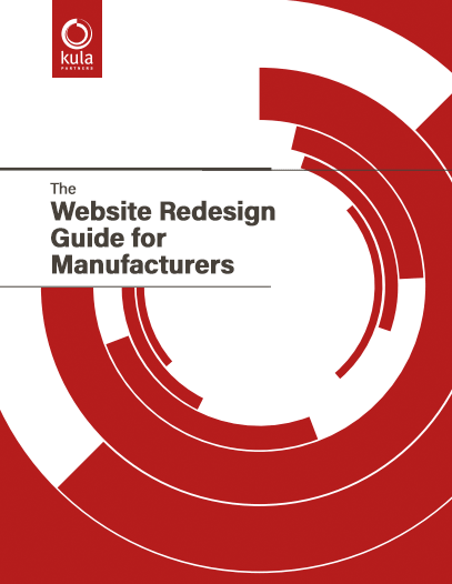 Cover for the Website Redesign Guide for Manufacturers offer