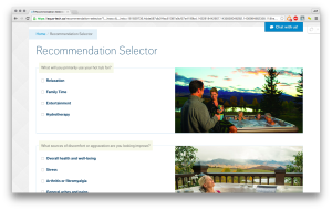 Aqua-Tech recommendation selector