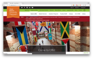CBU internal page alert