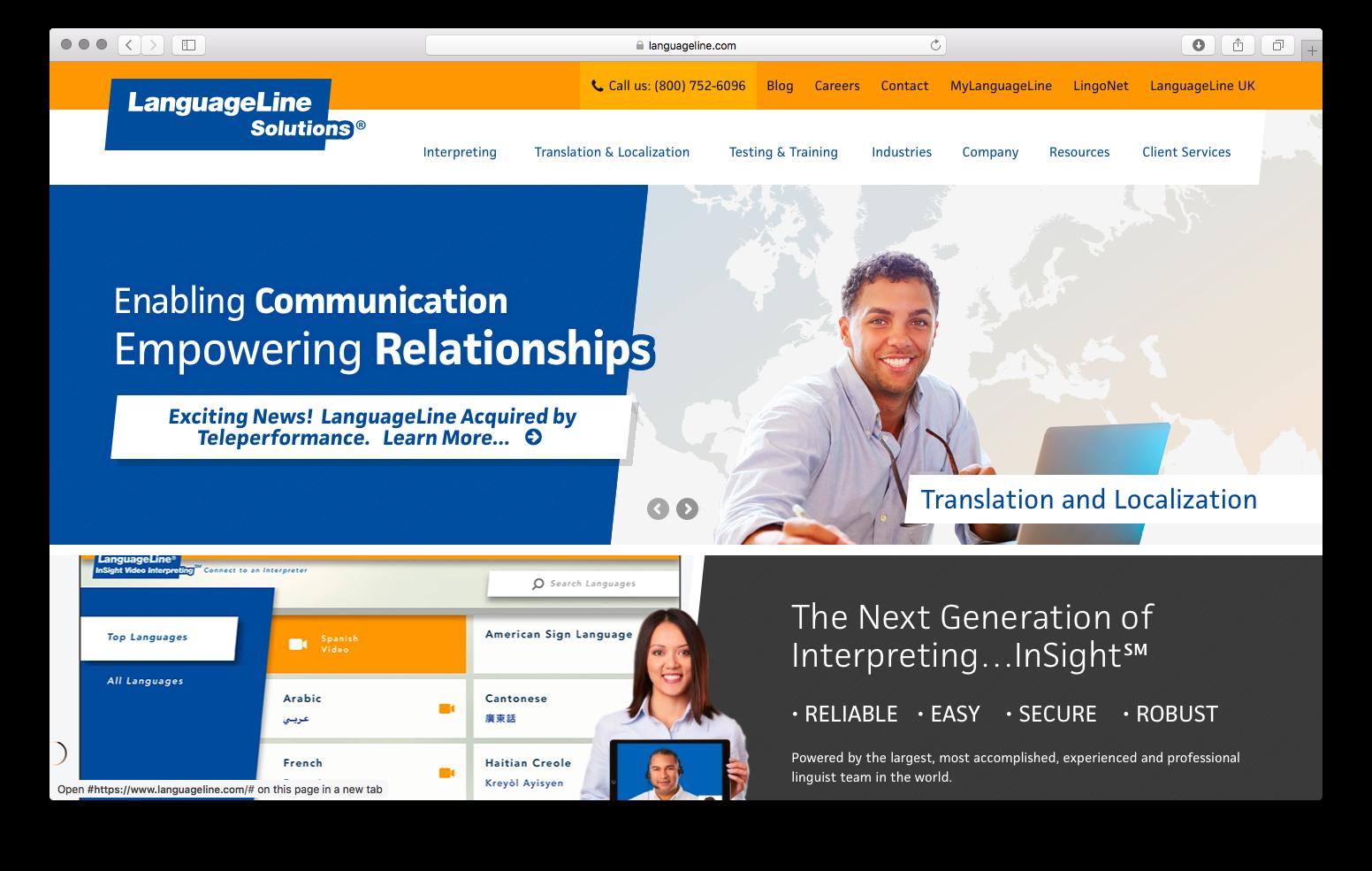 LanguageLine Homepage