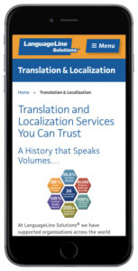 LanguageLine iPhone screen
