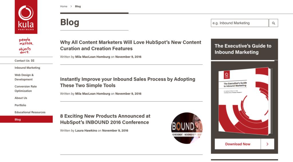 Kula Partners Blog CTA Example