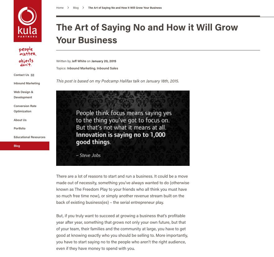 Presentation Blog Example