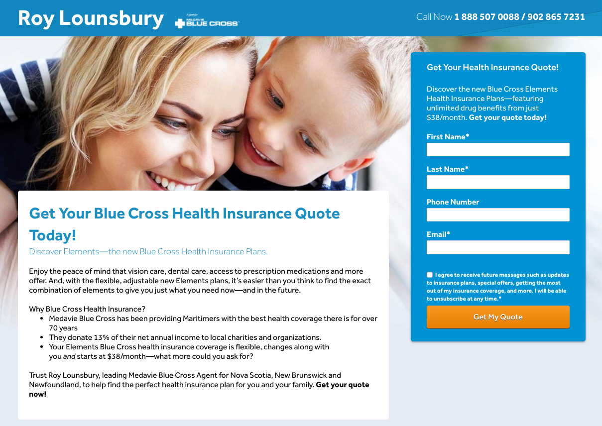 PPC Dedicated Landing Page example