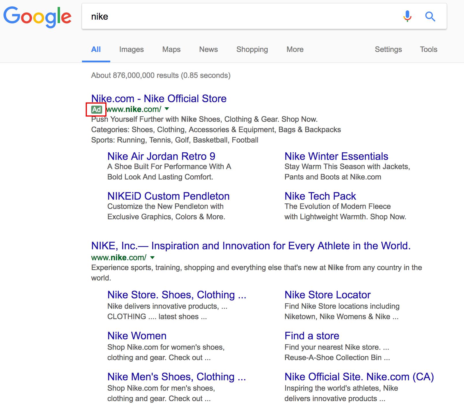 nike-google-search