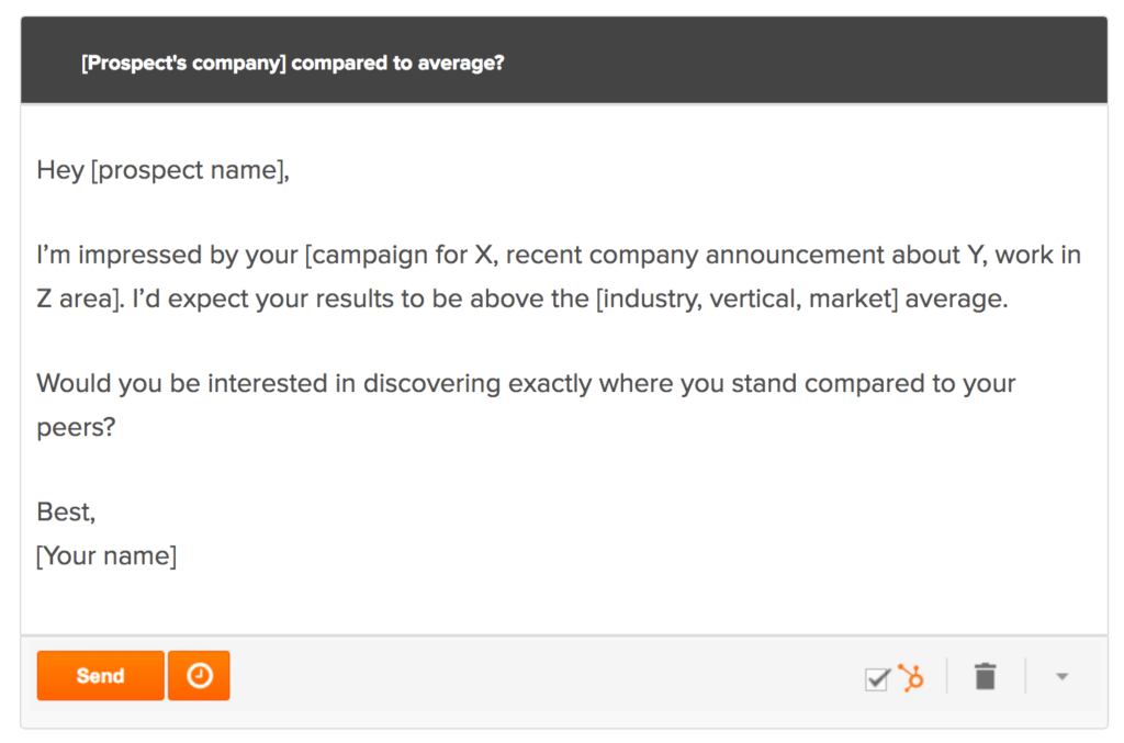 Comparision Prospect Email Template Preview