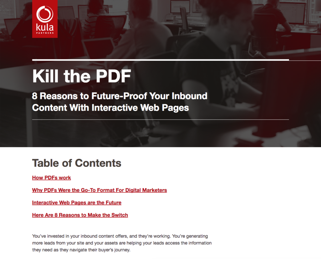 Kula Partners Hatches Plot to Kill Outdated PDF Format
