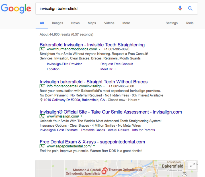 SERP with no organic results