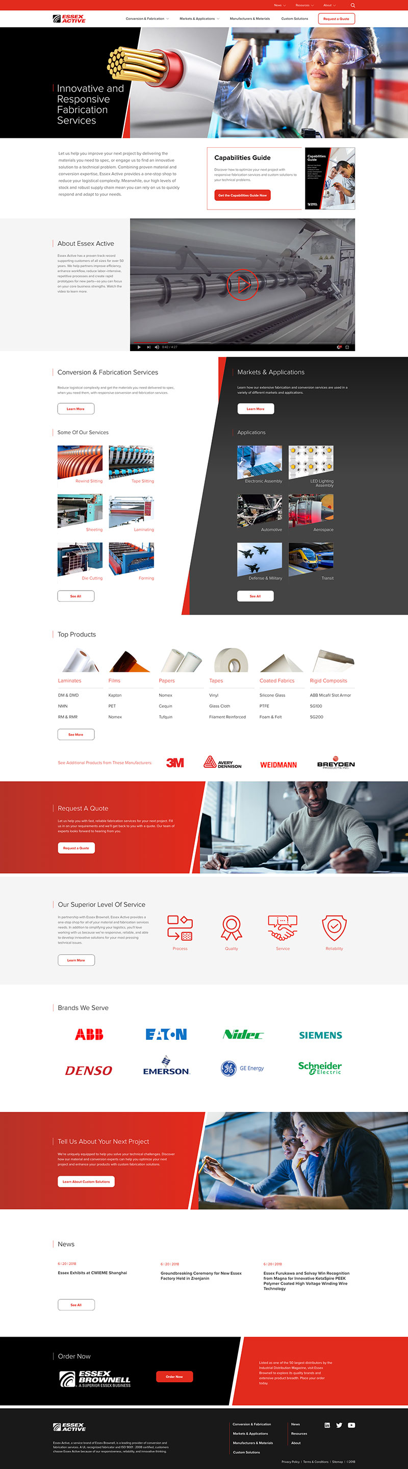 Essex Active Homepage Mockup