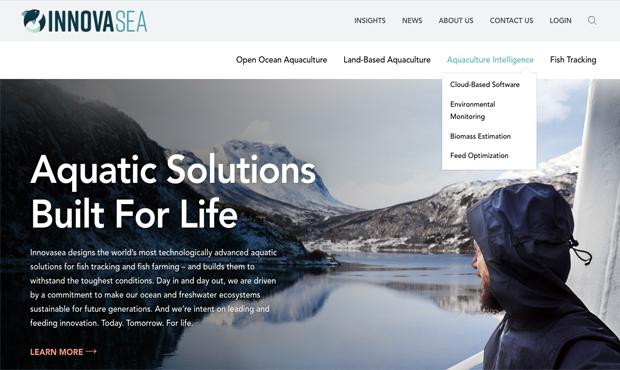 Innovasea homepage screenshot