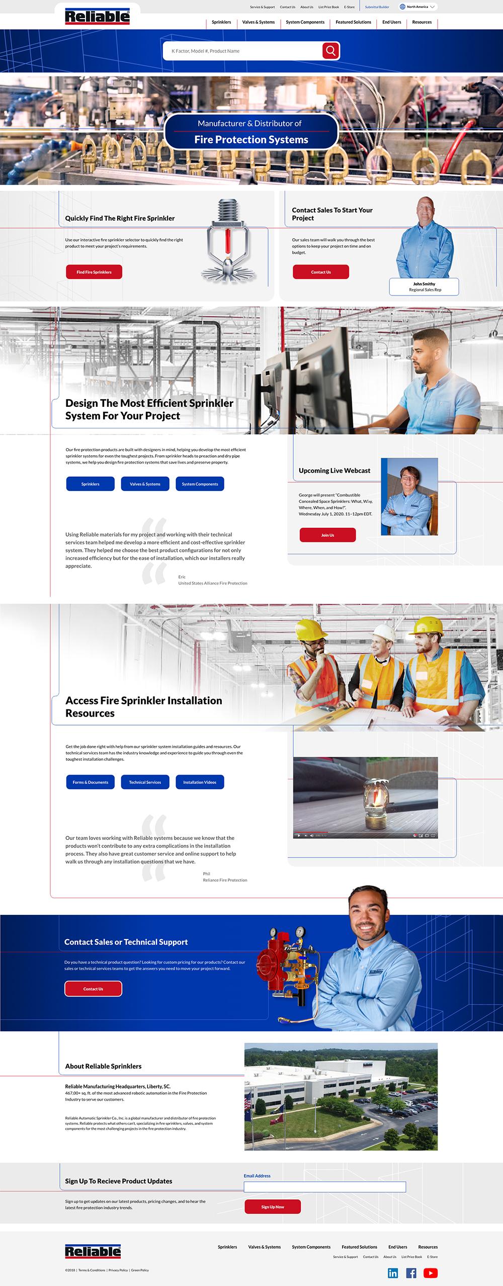 Reliable homepage screenshot