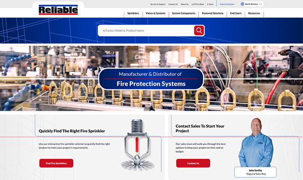 Reliable Automatic Sprinkler homepage preview