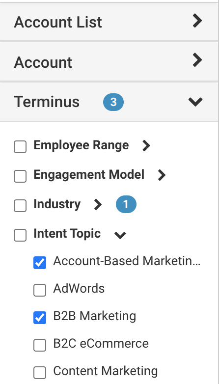 Terminus Account Hub